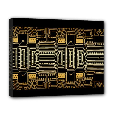 Board Digitization Circuits Deluxe Canvas 20  X 16  (stretched)