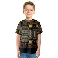 Board Digitization Circuits Kids  Sport Mesh Tee