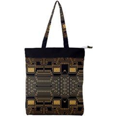 Board Digitization Circuits Double Zip Up Tote Bag