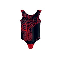 Artificial Intelligence Brain Think Kids  Frill Swimsuit