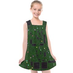 Board Conductors Circuits Kids  Cross Back Dress