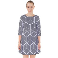 Cube Pattern Cube Seamless Repeat Smock Dress