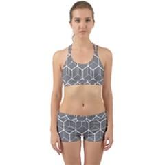 Cube Pattern Cube Seamless Repeat Back Web Gym Set