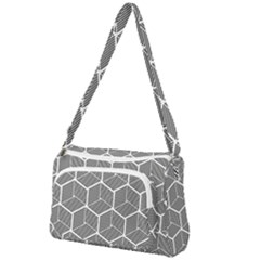Cube Pattern Cube Seamless Repeat Front Pocket Crossbody Bag