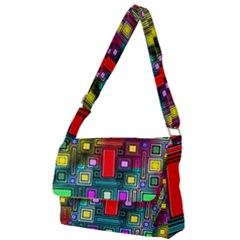 Art Rectangles Abstract Modern Art Full Print Messenger Bag