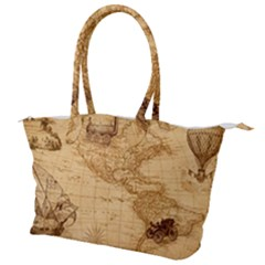 Map Discovery America Ship Train Canvas Shoulder Bag