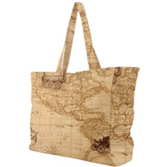 Map Discovery America Ship Train Simple Shoulder Bag by Bejoart