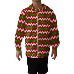 Christmas Paper Scrapbooking Pattern Hooded Windbreaker (kids)