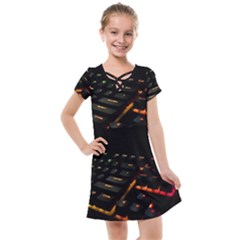 Keyboard Led Technology Kids  Cross Web Dress