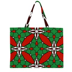 Christmas Seamless Pattern Xmas Zipper Large Tote Bag
