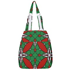 Christmas Seamless Pattern Xmas Center Zip Backpack