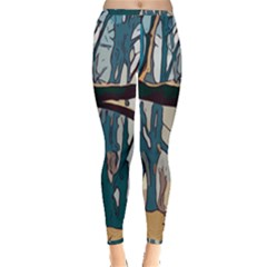 Forest Artwork Card Greeting Woods Inside Out Leggings