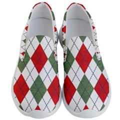 Red Green White Argyle Navy Men s Lightweight Slip Ons