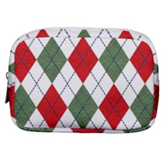 Red Green White Argyle Navy Make Up Pouch (small)