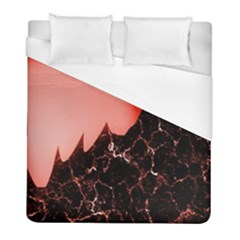 Sci Fi Red Fantasy Futuristic Duvet Cover (full/ Double Size)