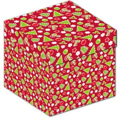 Christmas Paper Scrapbooking Pattern Storage Stool 12