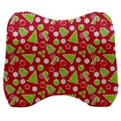 Christmas Paper Scrapbooking Pattern Velour Head Support Cushion