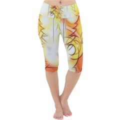 Tree Atmosphere Advent Lightweight Velour Cropped Yoga Leggings