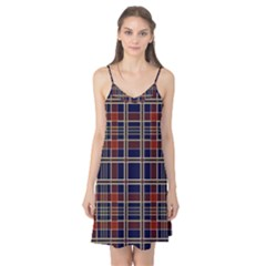 Plaid Tartan Scottish Navy Gold Camis Nightgown