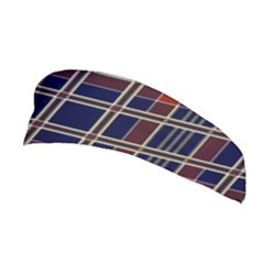 Plaid Tartan Scottish Navy Gold Stretchable Headband