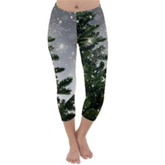 Christmas Fir Tree Mockup Star Capri Winter Leggings