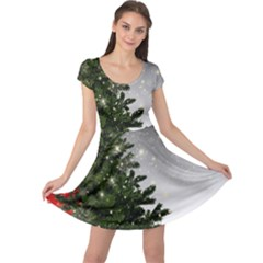 Christmas Fir Tree Mockup Star Cap Sleeve Dress