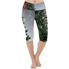 Christmas Fir Tree Mockup Star Lightweight Velour Cropped Yoga Leggings
