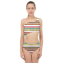 Christmas Ribbons Christmas Gold Spliced Up Two Piece Swimsuit