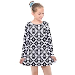 Decorative Ornamental Abstract Kids  Long Sleeve Dress by Wegoenart