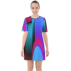 Abstract Art Abstract Background Sixties Short Sleeve Mini Dress