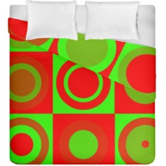 Red Green Christmas Background Duvet Cover Double Side (king Size)