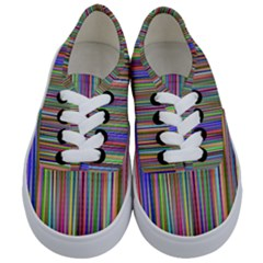 Striped Stripes Abstract Geometric Kids  Classic Low Top Sneakers