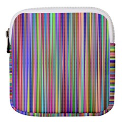 Striped Stripes Abstract Geometric Mini Square Pouch