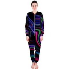 Art Abstract Colorful Abstract Onepiece Jumpsuit (ladies)
