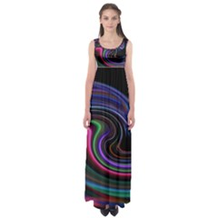 Art Abstract Colorful Abstract Empire Waist Maxi Dress