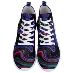 Art Abstract Colorful Abstract Men s Lightweight High Top Sneakers
