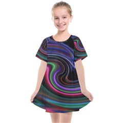 Art Abstract Colorful Abstract Kids  Smock Dress by Wegoenart