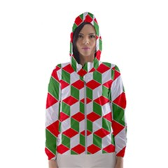 Christmas Abstract Background Hooded Windbreaker (women)