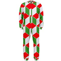 Christmas Abstract Background Onepiece Jumpsuit (men)