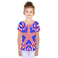 Star Explosion Burst Usa Red Kids  One Piece Tee