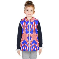 Star Explosion Burst Usa Red Kid s Hooded Puffer Vest by Wegoenart