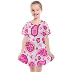 Paisley Pattern Art Background Kids  Smock Dress