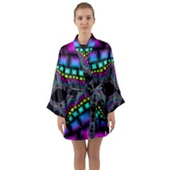 Fractal Art Artwork Digital Art Long Sleeve Kimono Robe