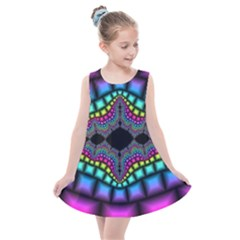 Fractal Art Artwork Digital Art Kids  Summer Dress