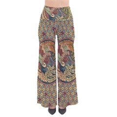 Wings Feathers Cubism Mosaic So Vintage Palazzo Pants by Wegoenart
