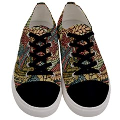 Wings Feathers Cubism Mosaic Men s Low Top Canvas Sneakers