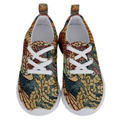 Wings Feathers Cubism Mosaic Running Shoes by Wegoenart