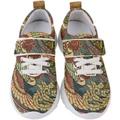 Wings Feathers Cubism Mosaic Kid s Velcro Strap Shoes by Wegoenart
