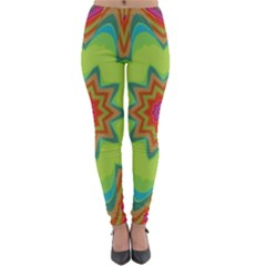 Abstract Art Abstract Background Green Lightweight Velour Leggings