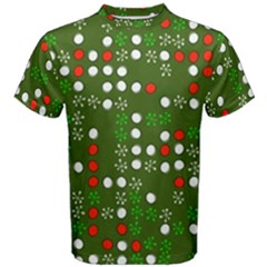1960 s Christmas Background Men s Cotton Tee